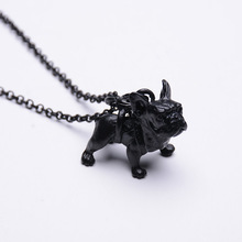 Boho Hippie Classic French Bulldog Necklace Girls Pretty Pet Bull Canine Assertion Necklace for Girls Trend Jewellery