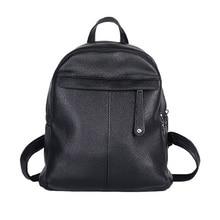 Элегантный дизайн простой рюкзак Для женщин Рюкзаки одноцветное Винтаж Обувь для девочек Школьные сумки для Обувь для девочек черного цвета из искусственной кожи Для женщин рюкзак XA403B