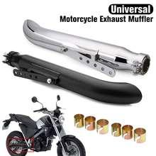 Silenciador de escape Universal para motocicleta tubo Retro Vintage tubo de tubo trasero para Harley Bobbers