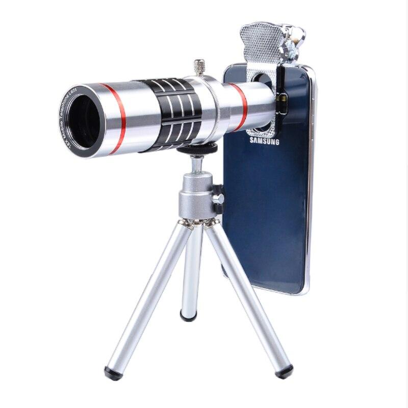 Universal 18x Optical Telescope Mobile Lens Telephoto Zoom Slow with Tripod for Samsung S8 Plus Xiaomi Plus Phone LX18X