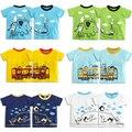 Top Crianças Criativa Dos Desenhos Animados Das Meninas Dos Meninos Camisetas Verão Tops de Manga Curta Criança Roupas da Menina do Menino Da Marca T-shirt Do Bebê Do Algodão roupas