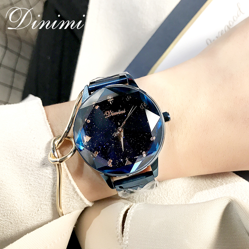 Dimini mode de luxe femmes montres dame montre or Quartz montre-bracelet en acier inoxydable dames montres cadeaux présent Dropshippin - 2