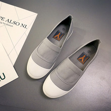 Automne automne 2017 Femmes De Mode Glissent Sur la Femme Plat Casual Chaussures de Toile de Loisirs espadrilles slipony étudiant chaussures Casual