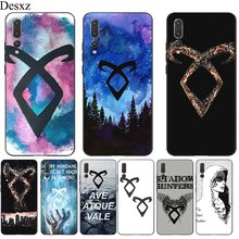 Silicone Mobile Phone Case For Huawei Y5 Y6 Y7 Y9 Prime Mate 10 20 Pro Nova 2i 3i 2 3 4 Lite Cover Shadowhunters Colorful(China)