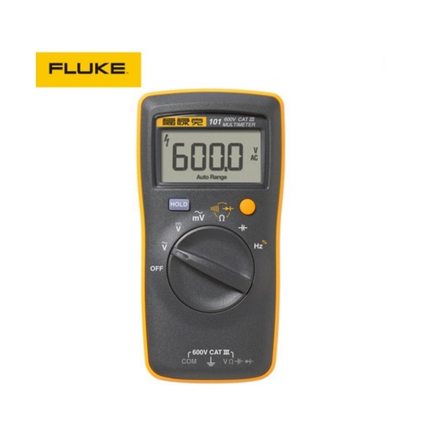 Free shipping Fluke 101 Auto Range Digital Multimeter for AC/DC Voltage,Resistance,Capacitance and Frequency Measurement vici vc97 auto range dmm ac dc voltmeter capacitance resistance digital multimeter vs fluke15b free shipping