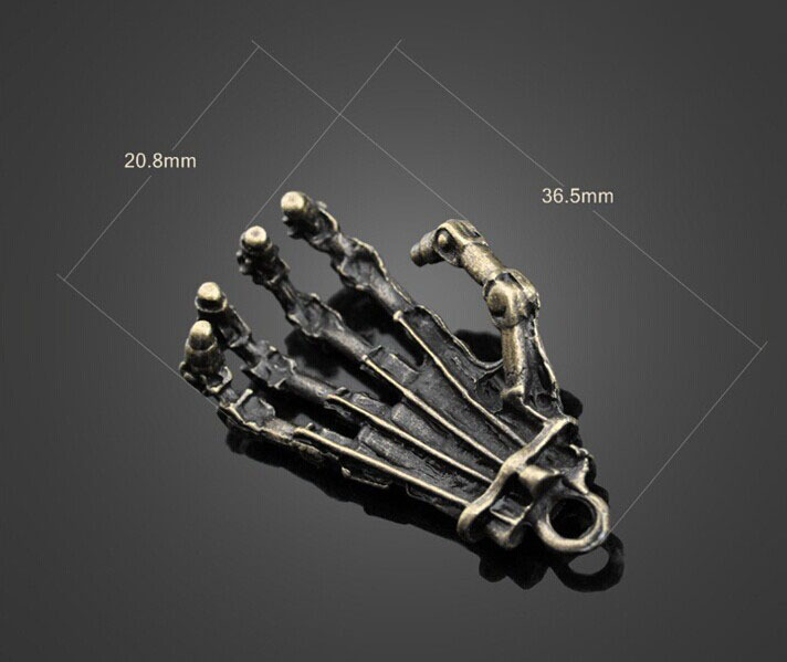 Купить с кэшбэком 100pcs Antique Bronze Ghost Claws Charm Pendants-Jewelry Findings Necklace Bracelet Earrings Fashion Accessories 36.5mmX20.8mm