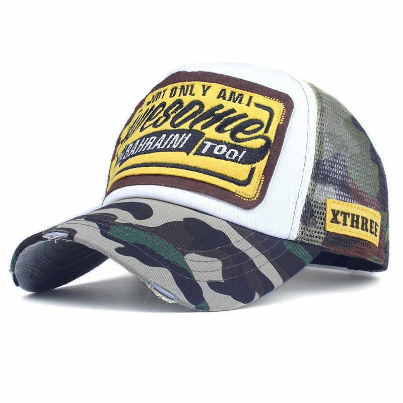 8a4fe5228d0f6 ... Xthree Summer Baseball Cap Embroidery Mesh Cap Hats For Men Women  Snapback Gorras Hombre hats Casual ...