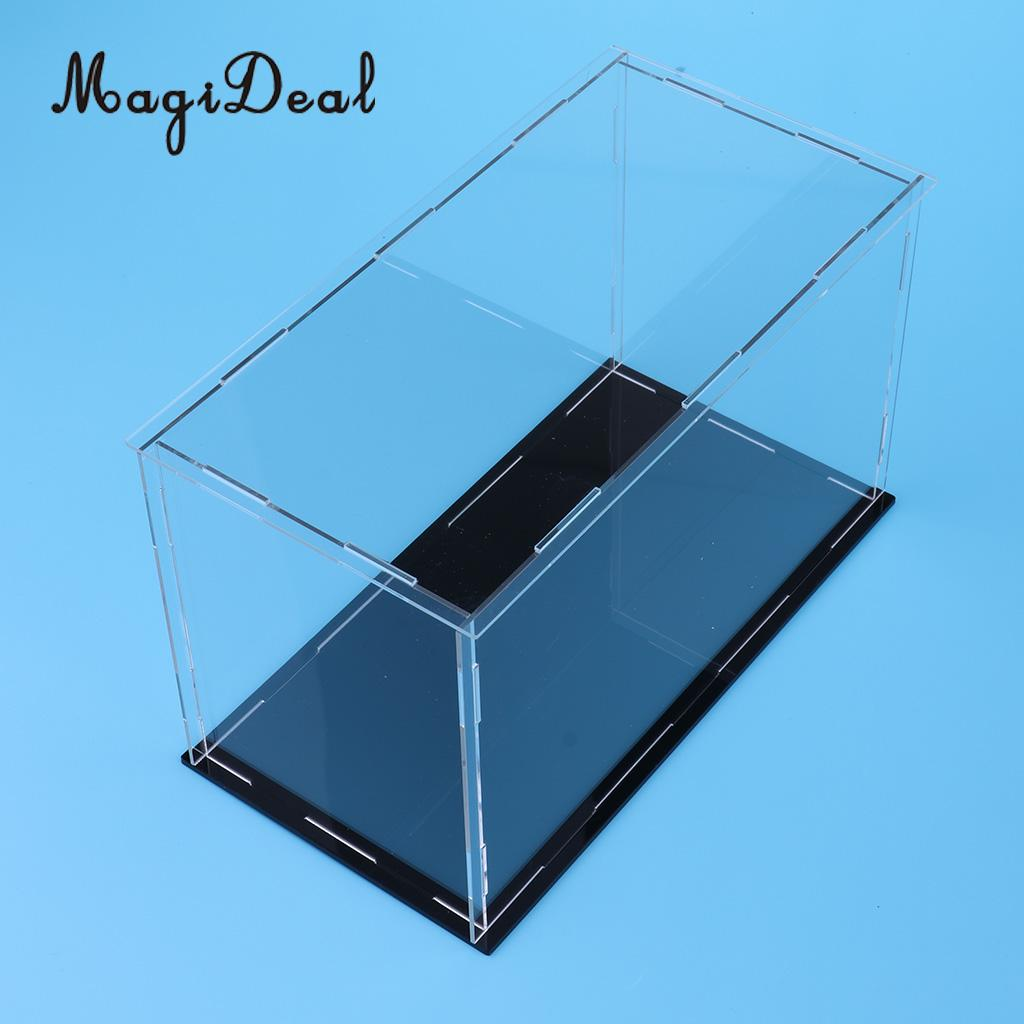 MagiDeal Transparent Acrylic Display Case Tray Dustproof Storage Show Box 23x11x11cm