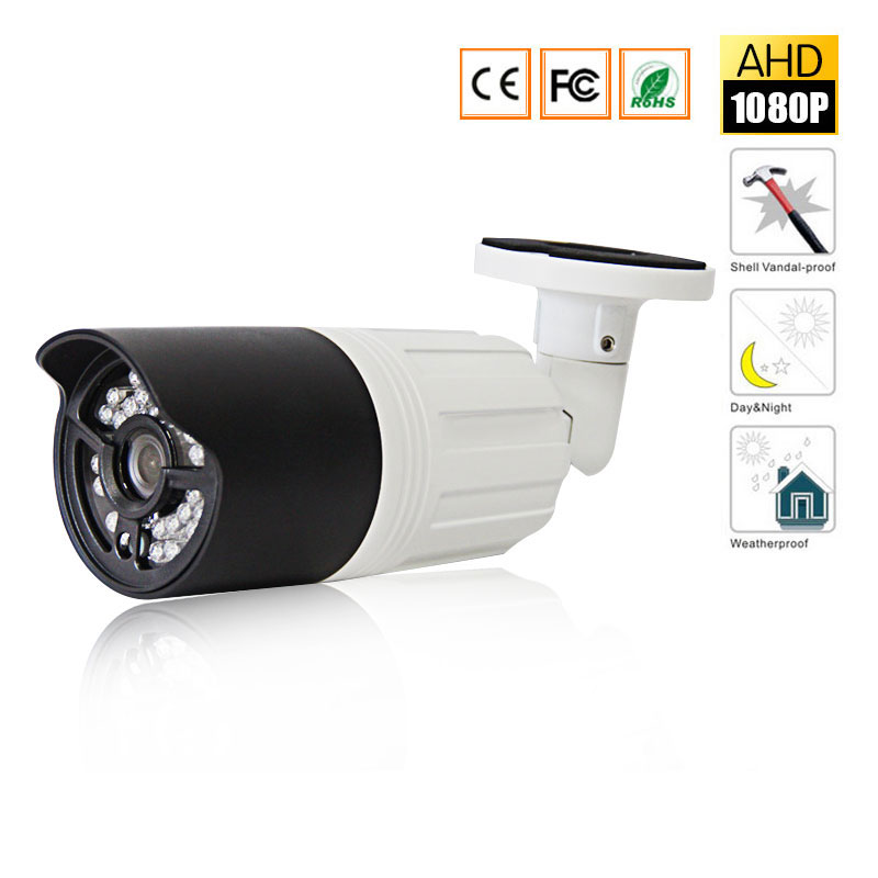 AHD1080P IR Camera Mini Waterproof Bullet Camera Analog AHD Camera indoor/Outdoor  IR CUT Night Vision Plug and Play for AHD DVR bullet camera tube camera headset holder with varied size in diameter