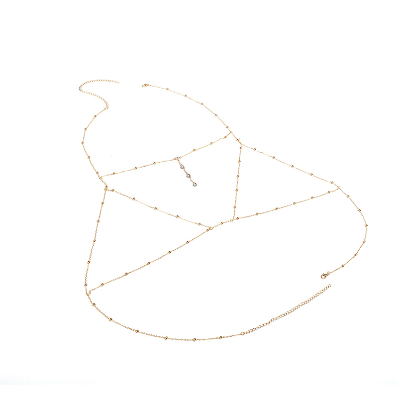 HTB1eqJIaffsK1RjSszgq6yXzpXaw Sexy Beach Gold/Silver Color Wedding Accessories Bra Cross Body Chain Jewellery