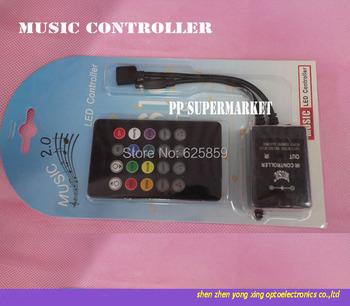 20 klawiszy muzyka Voice kontroler czujnika dźwięku pilot zdalnego sterowania na podczerwień praktyczne strona główna RGB 3528 5050 taśmy LED RGB kontrolery tanie i dobre opinie Kontroler rgb ROHS SZRZGT