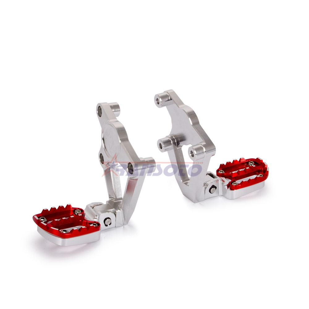 RANSOTO CNC Aluminum Folding Rear Set Footrest Foot Pegs Pedal Passenger Rearsets For HONDA X ADV X-ADV 750 2017 2018 XADV