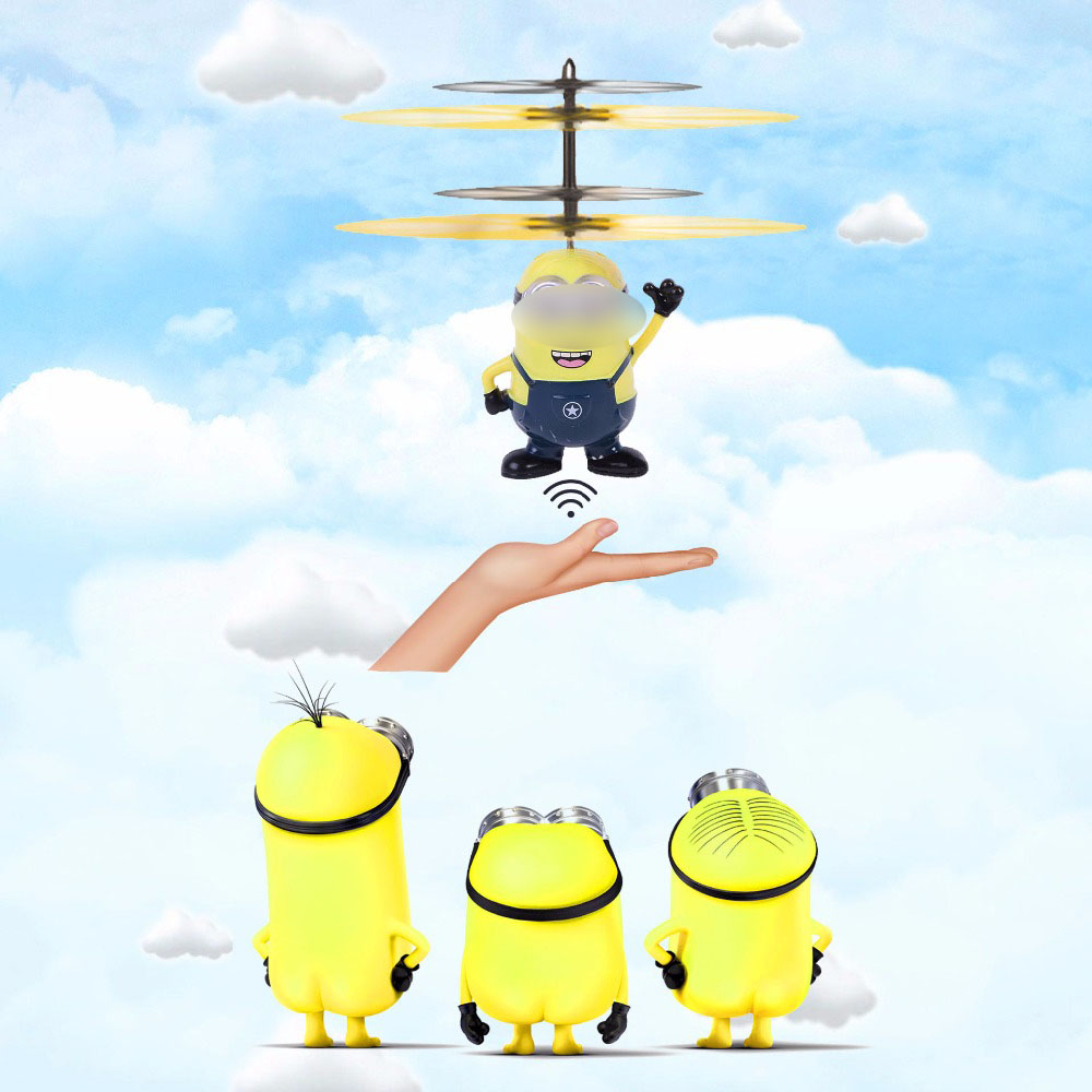 Infrared Induction Flying Toy With Music Electronic Interactive Toys cartoon Mini Rc Helicopter Floating Remote Control