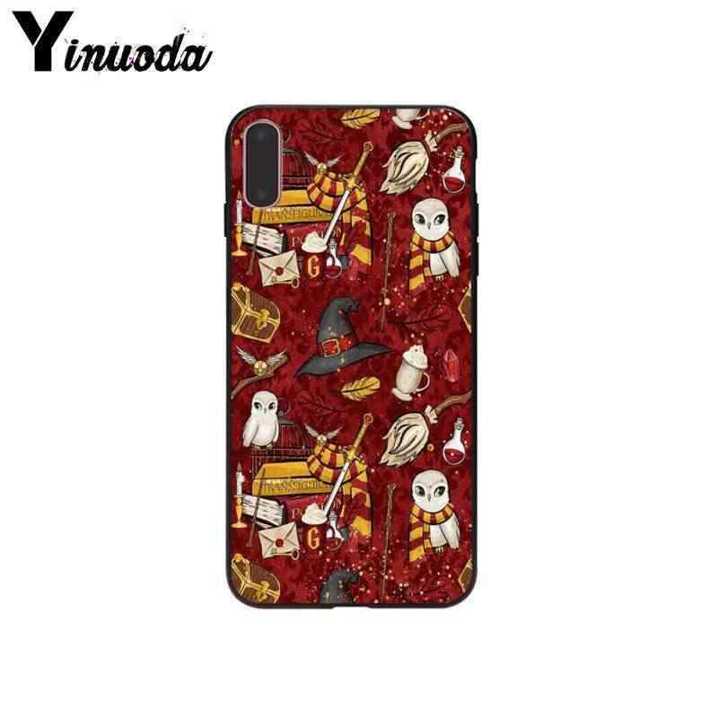 Yinuoda HarryPotter высокое качество телефон Обложка в виде ракушки для iPhone i8 i7 i6 i6S плюс i5S iX iXR XS MAX чехол