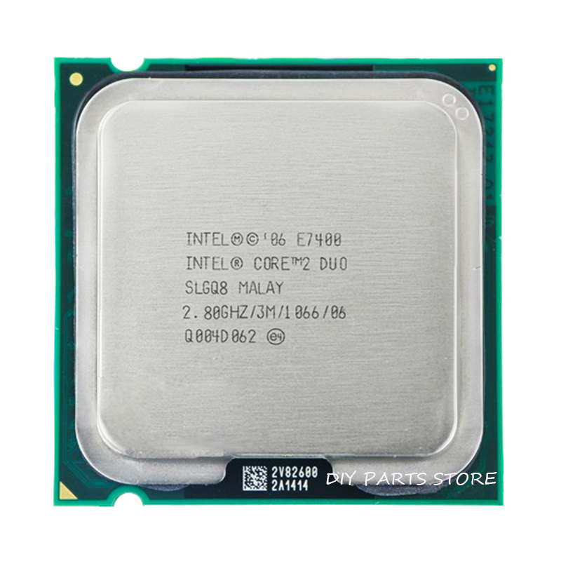INTEL Core 2 Duo E7400 Socket LGA 775 CPU Processor (2.8Ghz/ 3M /1066GHz)