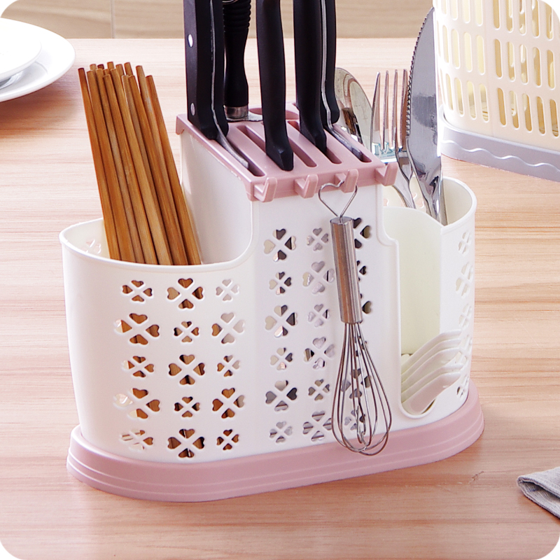 Home Tableware Knife Block Multifunction Plastic Knife Holder Chopsticks Holder Stand For Knives Kitchen Accessories