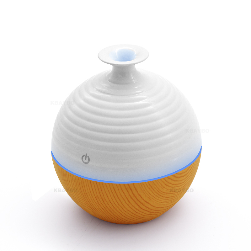 USB Ultrasonic Humidifier 130ml Aroma Diffuser Essential Oil Diffuser Aromatherapy mist maker with 7 color LED Light Wood grain salav aroma diffuser ultrasonic aromatherapy humidifier 7 led light mist maker essential oil diffuse aluminum alloy base xs 02