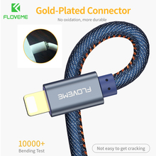 FLOVEME USB Charger Cable For iPhone X XS Max 0.3 M 2.1A Data Charging