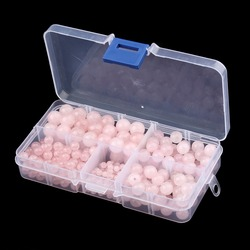 340pcs/box Pink Round Natural Stone Loose Spacer Beads 4mm 6mm 8mm 10mm Jewelry Box Case Diy Bracelet Necklace Making