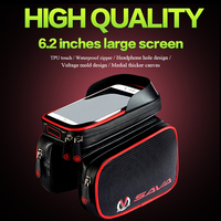 WHEEL UP Bicycle Frame Front Head Top Tube Waterproof Bike Bag Double IPouch Cycling For 6