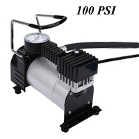 Portable Equipped Accurate Pressure Gauge 100 PSI Mini Car Air Compressor Tire Inflator Pump for Bicycle Car Motor