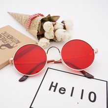 e01ae7fee YOOSKE المعادن جولة النظارات الشمسية الرجال النساء شخصية الأسود الأحمر  الكبير نظارات شمسية مرآة ظلال مكبرة
