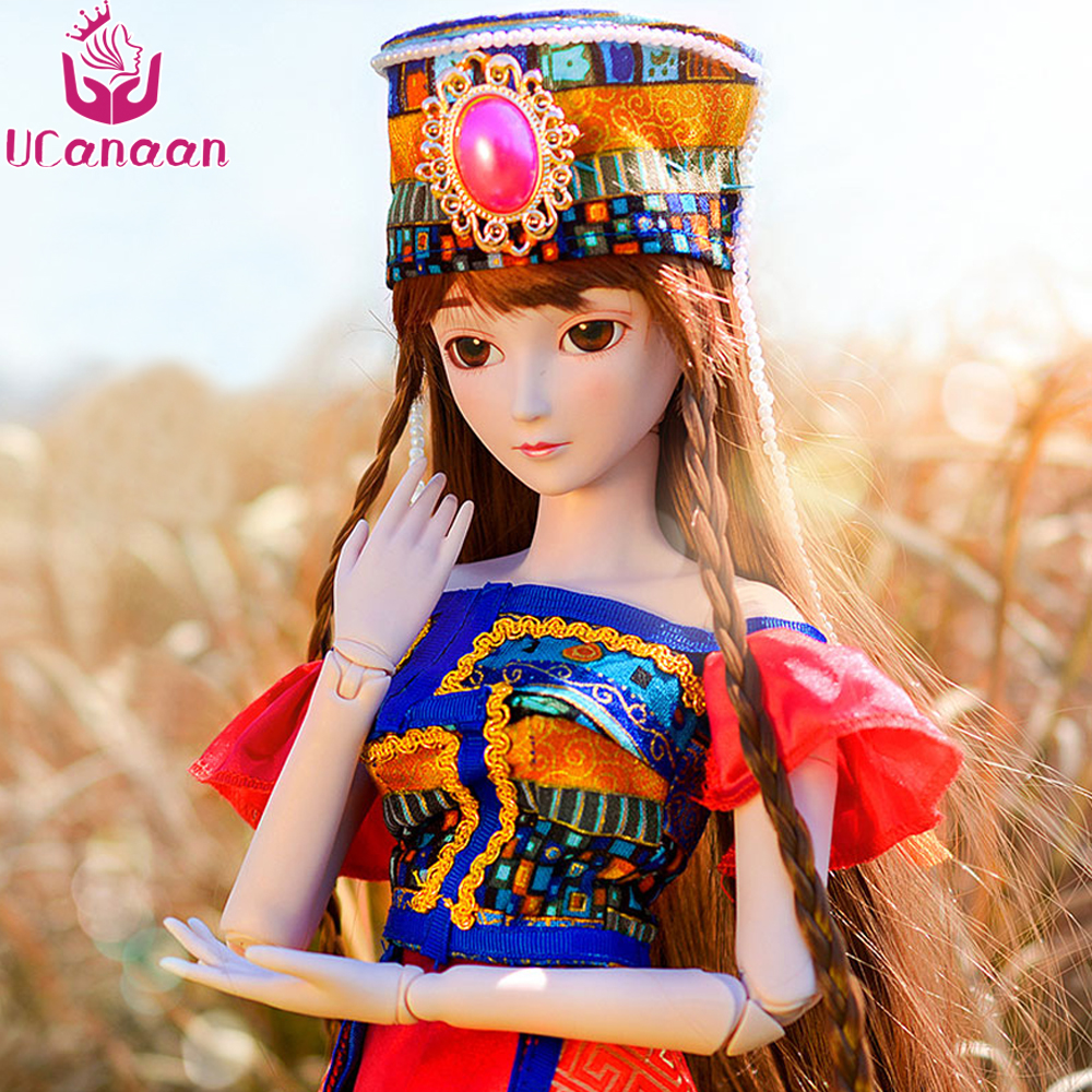 Ucanaan 1/3 Large BJD/SD Doll Black Xiangling Dress Up New Style Movable Joints Body Classic Toys Best Fashion Gift BJD Doll uncle 1 3 1 4 1 6 doll accessories for bjd sd bjd eyelashes for doll 1 pair tx 03