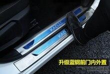 Выше звезда 8 единиц (4 единицы внутренние + 4 единицы внешний) порога Накладка, порог защиты педали наклейки для Renault kadjar