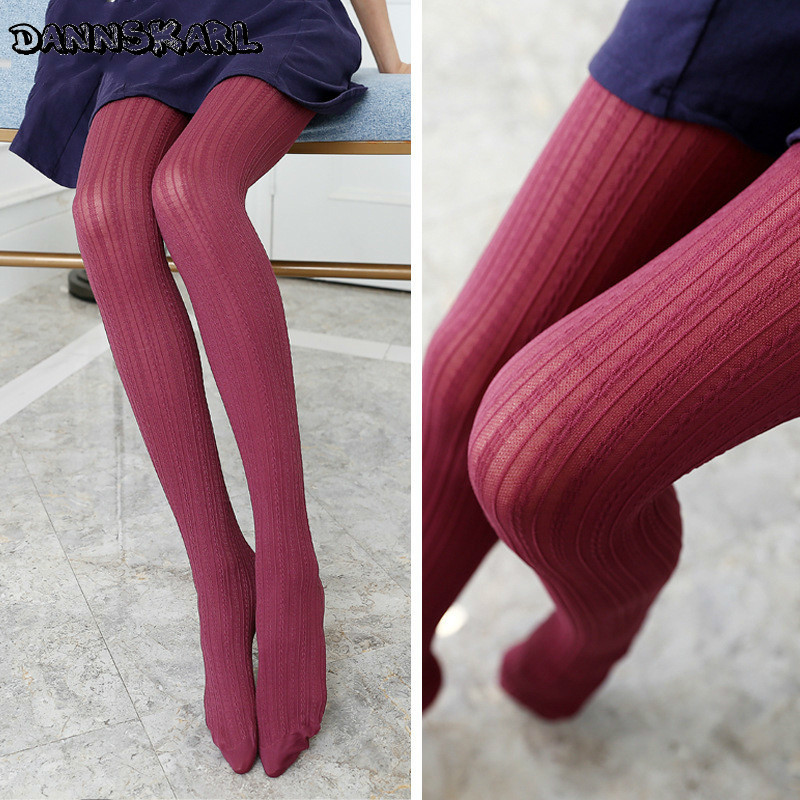 New Japanese Candy Color Women Silk Stockings Kawaii Woman Pantyhose Stocking Velvet Women Tights Casual Hosiery Collant Femme