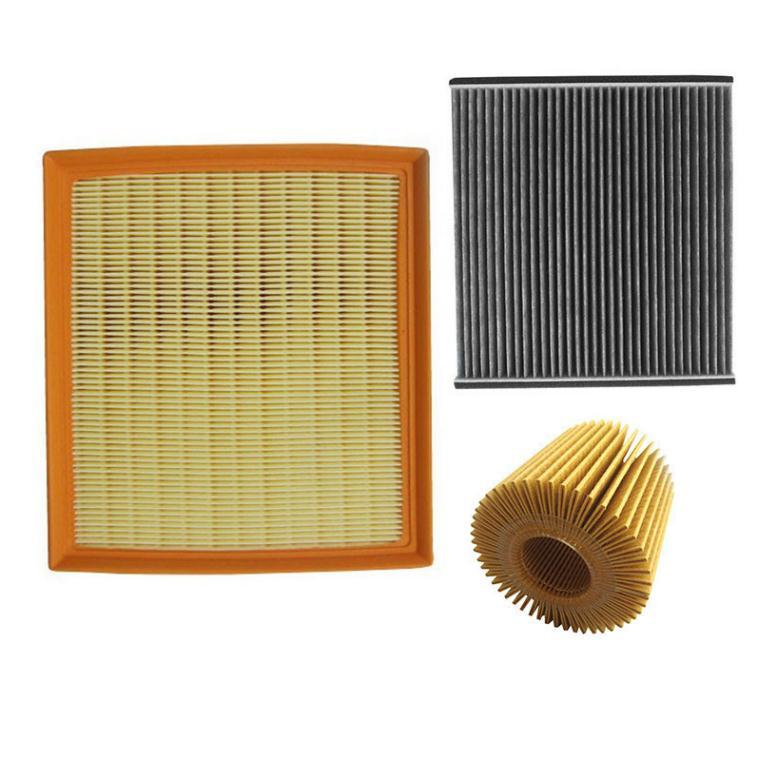 AUTODAB filters for 2015 Toyota Highlander 2.0T 3.5L air filter+oil filter+cabin filter