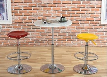 coffee house hotel Bar stool European and American popular plastic stool black blue yellow orange color free shipping