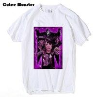 Фильм Крик Футболки Мужчин классический фильм ужасов Крик 3d напечатаны женщины мужчины одежда летняя футболка с коротким рукавом хлопок То...
