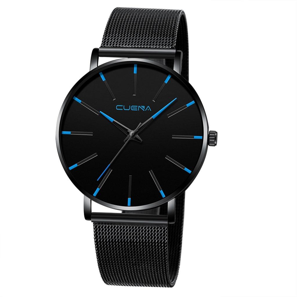 Watch Men Luxury Cuena Reloj Hombre Erkek Kol Saati Watches Quartz Watch Stainless Steel Dial Casual Bracele Watch Zegarek Meski