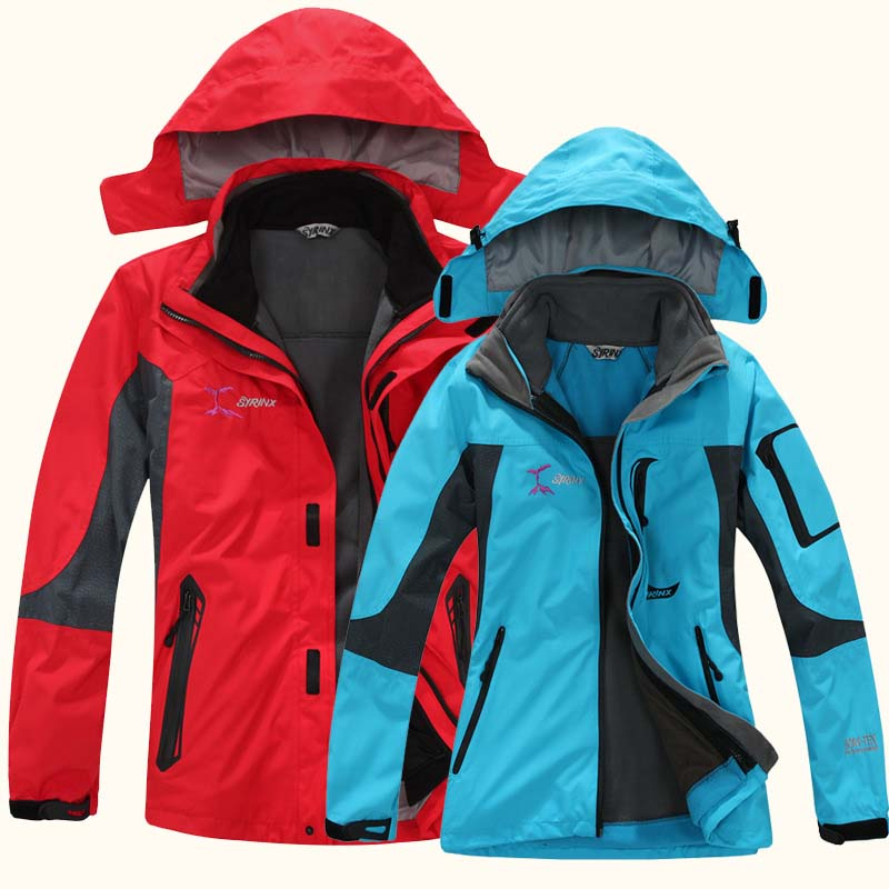 Outdoor Soft shell Removable Waterproof Jacket Male Female Thermal Windproof Breathable Coat Men&Women Skiing Climbing Jacket