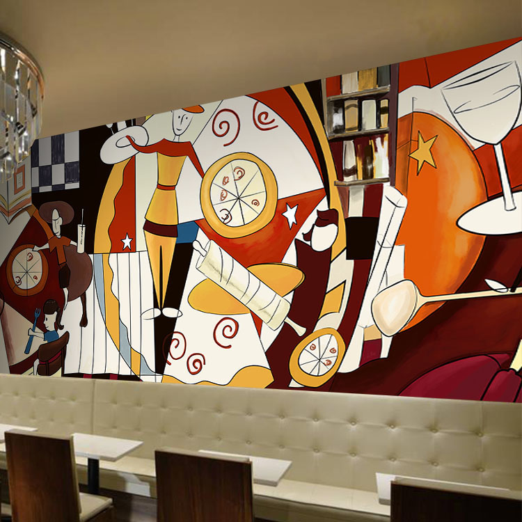 3d photo wallpaper cartoon anime large mural restaurant for Cafe mural wallpaper