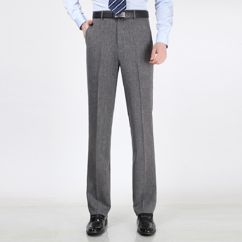 Simple  Reaction Charcoal Flat Front Dress Pants In Gray For Men Charcoal