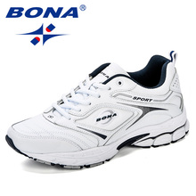 BONA Running Shoes Mens Sneakers Black Sports Shoes For Male Sneakers Designer Male Adult Athletic Shoes Outdoor jogging Shoes