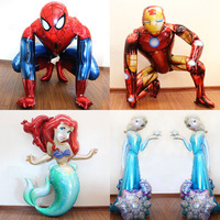 Anagram 52inch Standing Mickey Mouse Spider Man Foil Balloons Baby Shower Birthday Party Decorations Kids Wedding