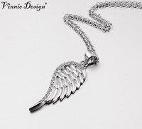 فيني تصميم المجوهرات الفاخرة 925 فضة الملاك الجناح قلادة قلادة أعلى جودة قلائد أفضل هدية عيد