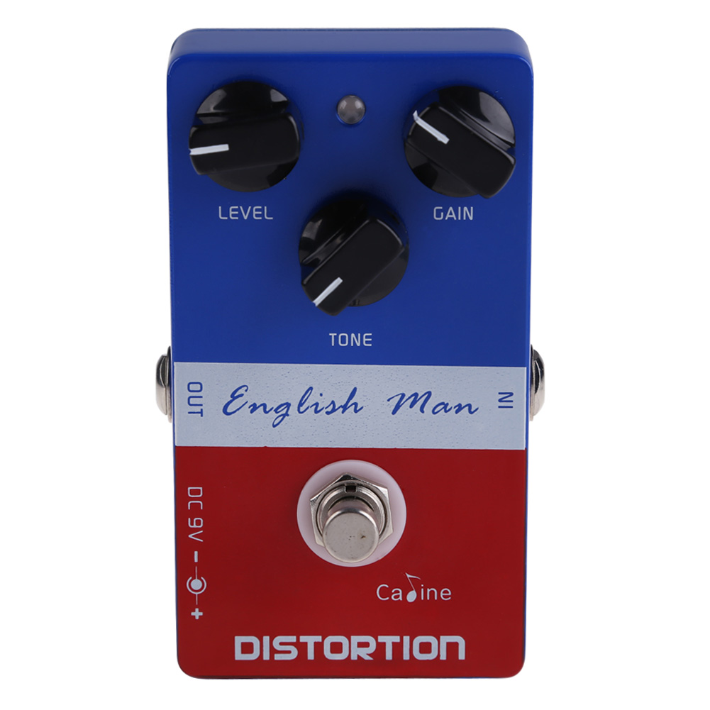 Caline CP-14 Aluminum Alloy Highly Dynamic British English Man Distortion Guitar Effects Pedal With 3 Adjustable Knobs ARE4 think british english 1 cl aud cds 3