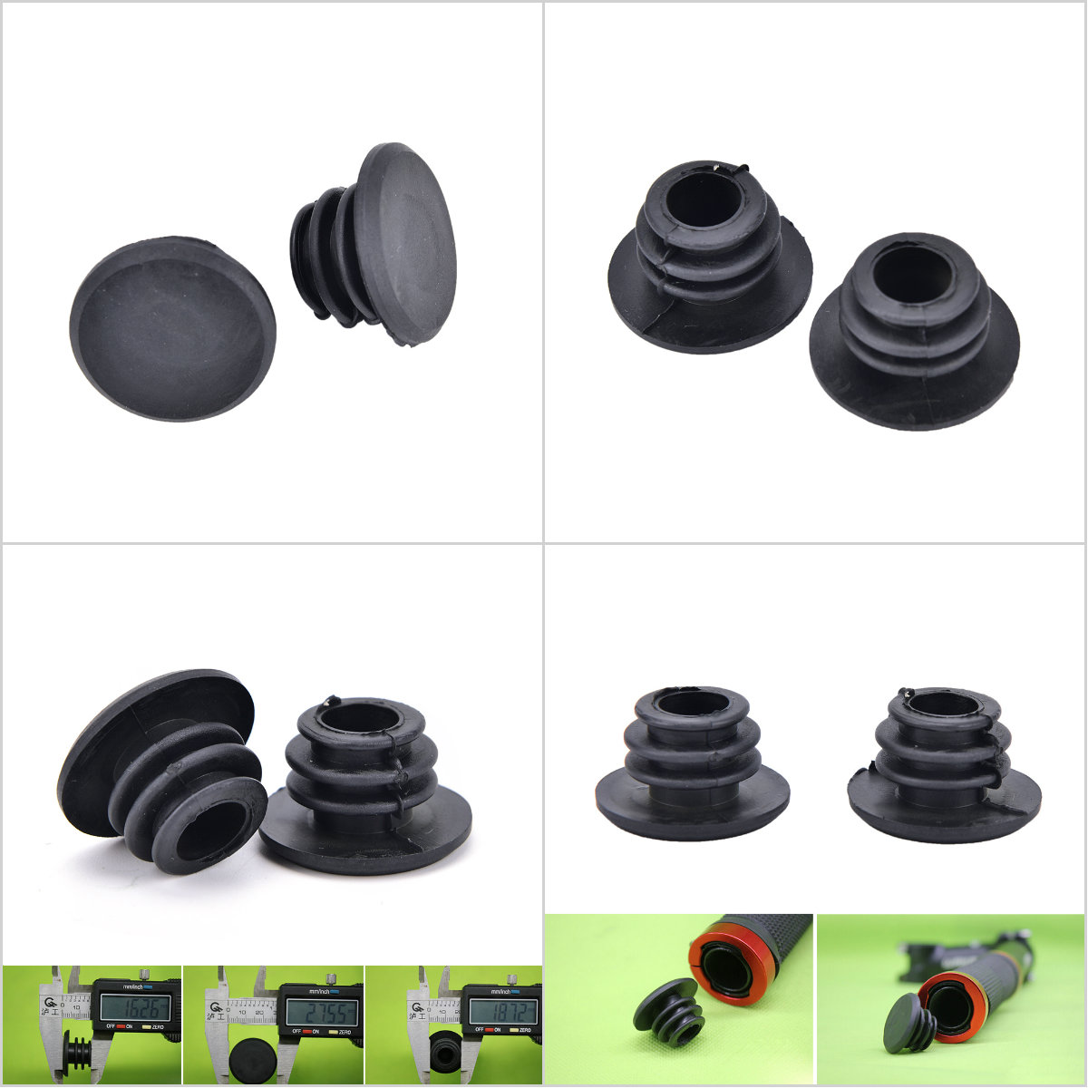 1 Pair Bicycle Handlebar Grip End Plugs Bicycle Grips Caps Stoppers Bikes Par/%x