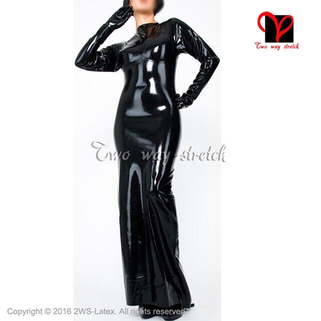 Long Sleeve Latex Dress