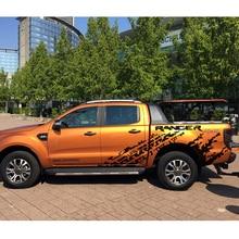 mudslinger tire marks with ranger body rear tail side graphic vinyl car sticker for  2012-2017