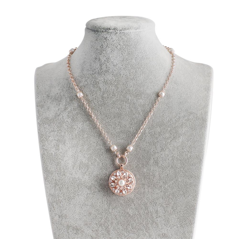 2018 סגנון חדש וינטג סגסוגת מתכת הצמד שרשרת שרשרת ארוכה תכשיטי כפתור הצמד גברת עלה זהב שרשרת תליון לנשים