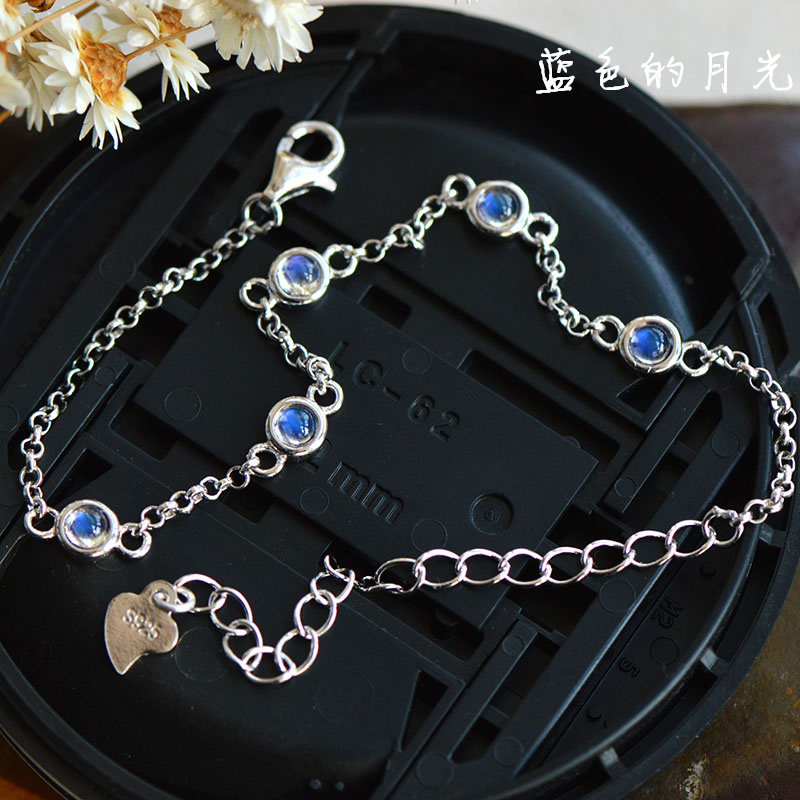 Nepal Bali Natural Moonstone Silver Blacelets&Bangles, Fashion 925 Sterling Silver Bracelet Natural Stone Bracelet For Women bocai silver makeup india nepal bali silver acts the role of by hand rainbow blue moon stone ring