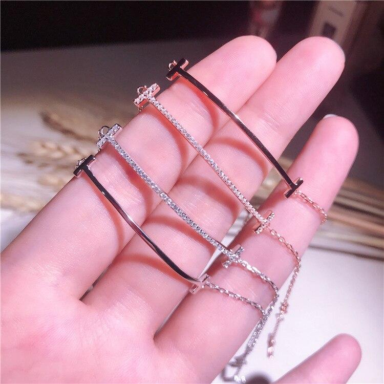 DOME-SPACE Adjustable Silver Bracelets Pink Henna Hand Chain Link Bracelet Clear Bangle Custom Glass Cabochon Charm