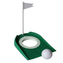 RubberGolf Putting Green 4 1/4′ Cup Hole Hole with Flag Indoor Home Yard Outdoor Practice Training Trainer Aids Golf Accessories