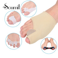 Soumit 5pcs Sets Pain Relieve Pad Orthotics Overlapping Toes Correction Care Cushiontoe Separators For Correction Pads