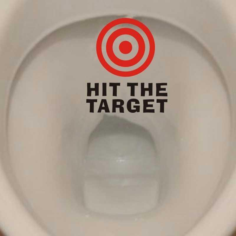 Golpear el objetivo impermeable divertido inodoro pegatina baño personalidad asiento de inodoro recordatorio cita niños entrenamiento