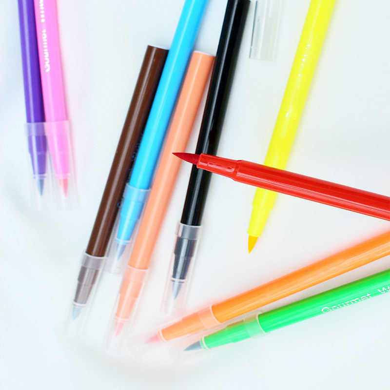 10 Colors Portable Edible Pigment Pen Drawing Biscuits Fondant Cake  Decorating Tools Food Coloring Pens 5ML Cake DIY Draw Tool